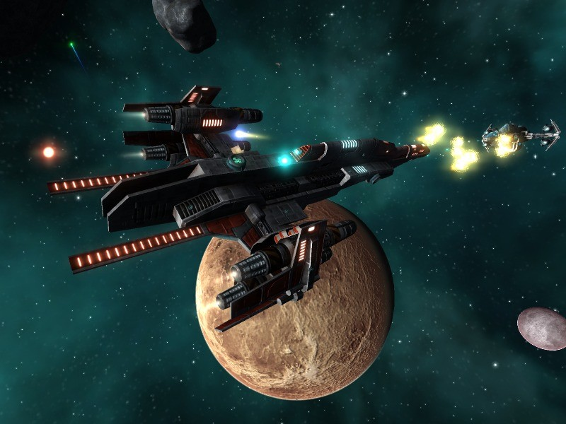 Vendetta Online - Two Terradon Frigates go at each other in Vendetta Online