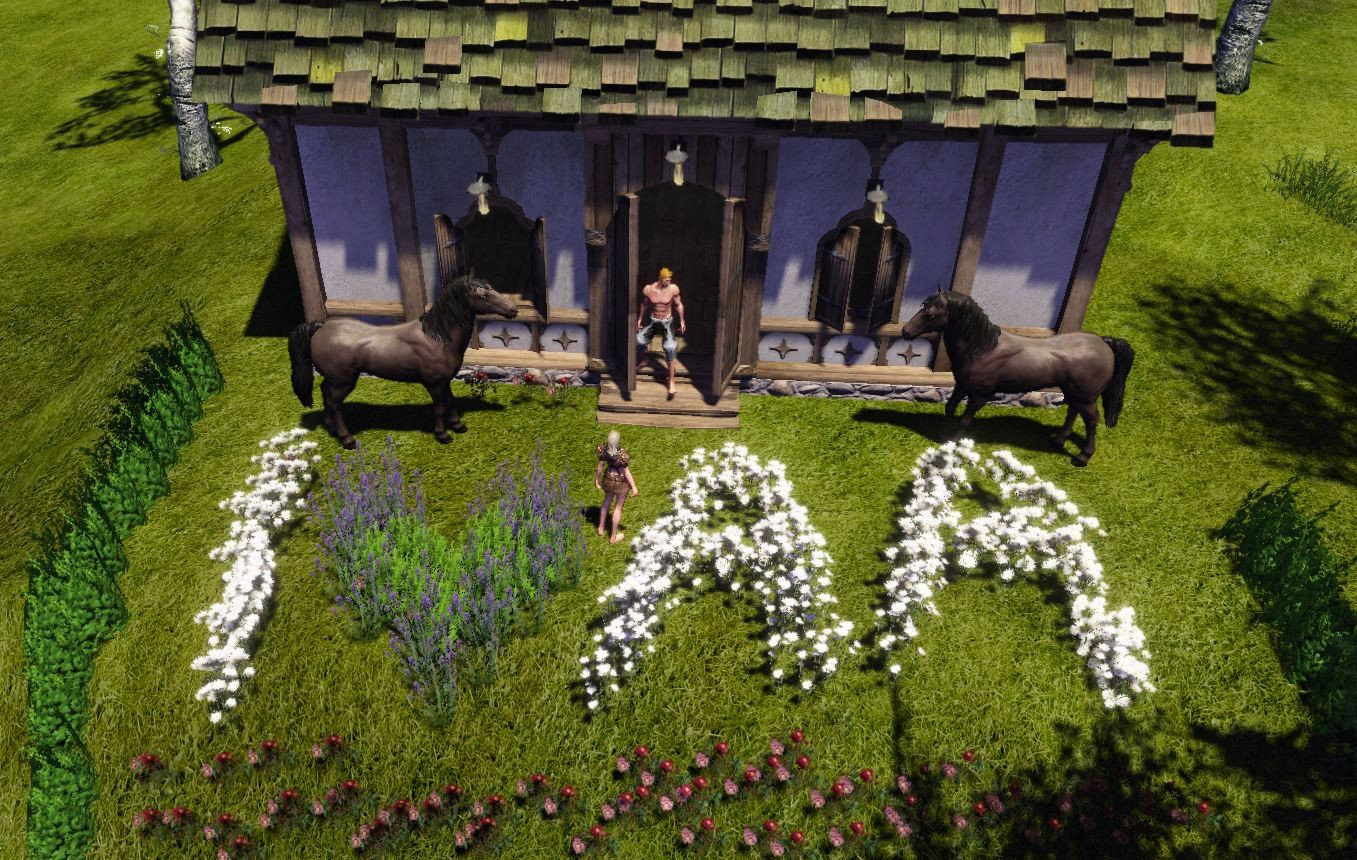 ArcheAge - Planting in your garden..