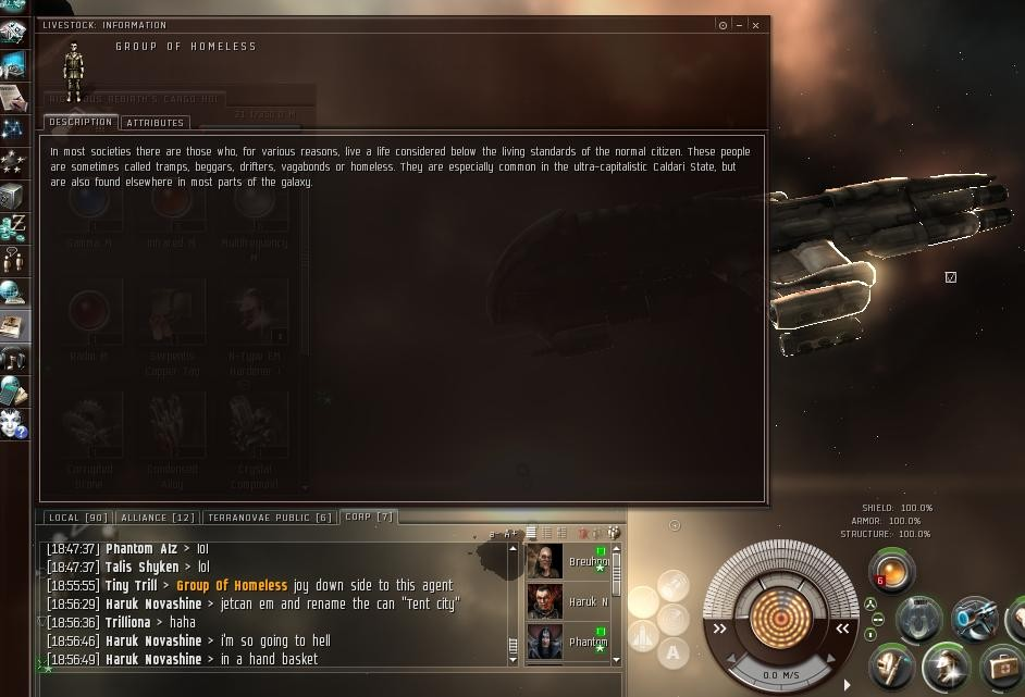 EVE Online - Tent City, so wrong.