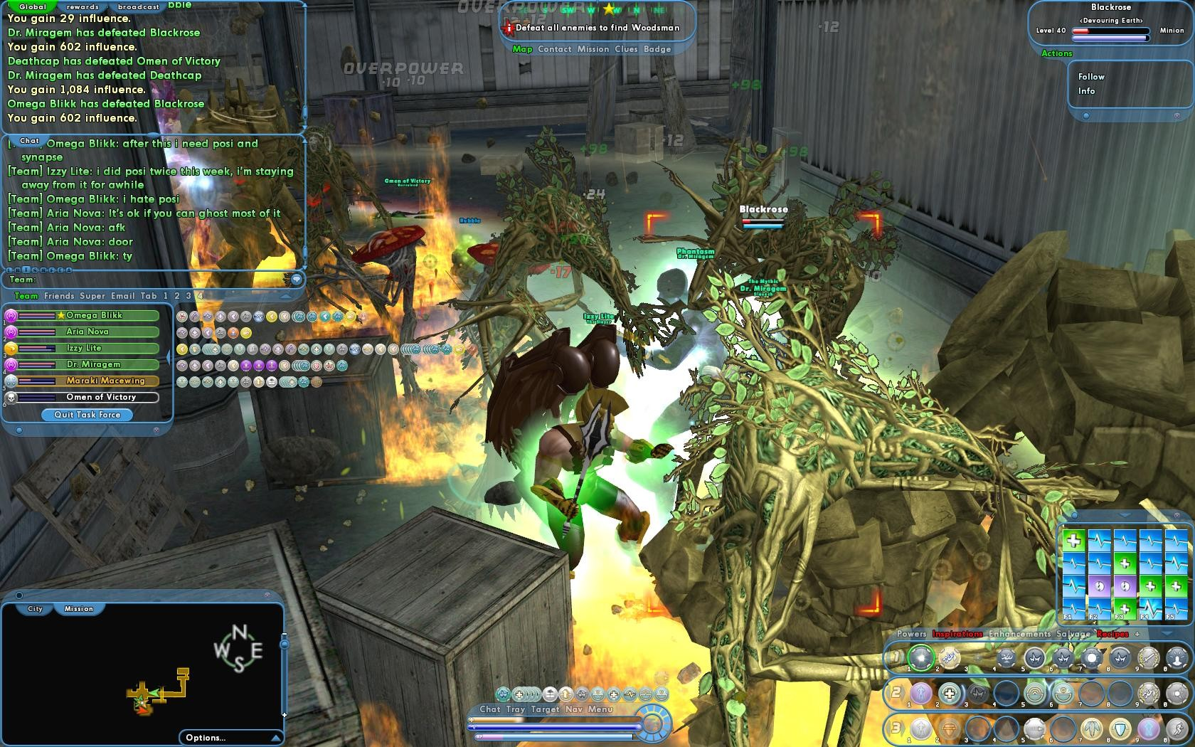 City of Heroes - Defeat All Enemies to Find Woodsman