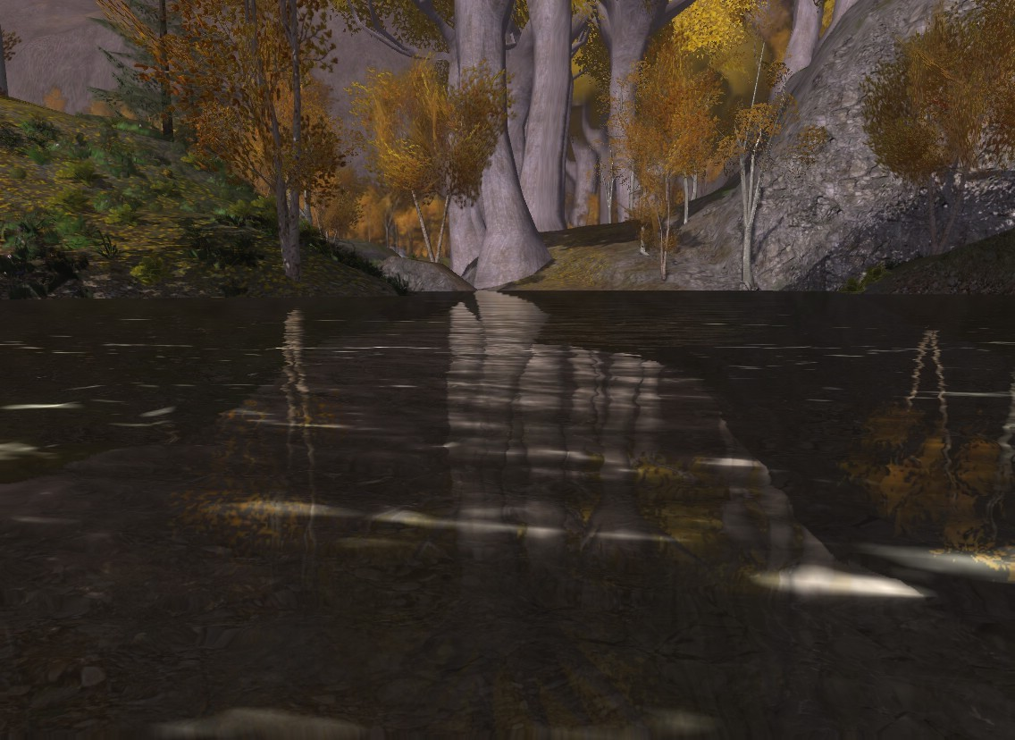 Lord of the Rings Online - Lothlorien water, extremely realistic Dx10 Maxed Out