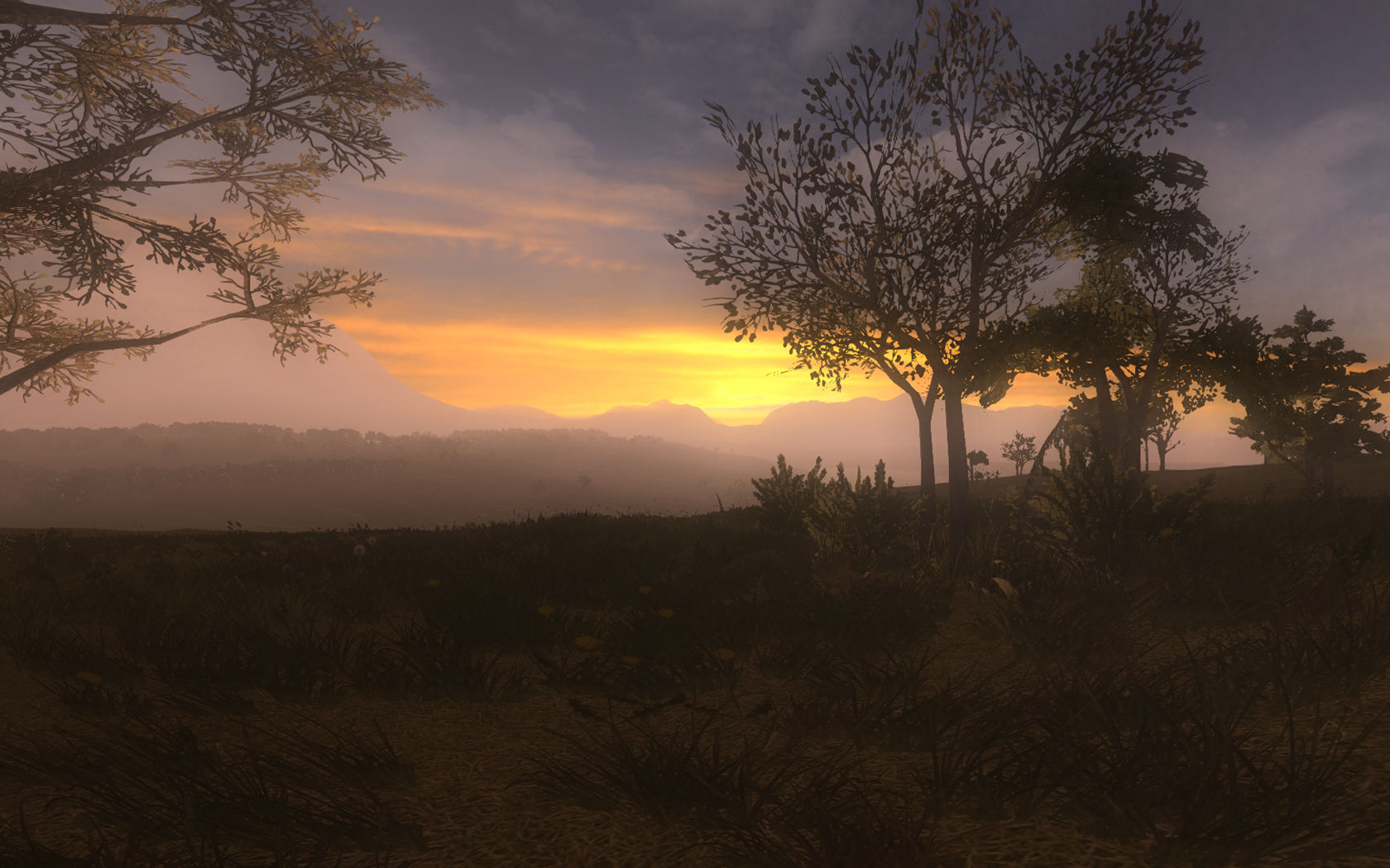 Life is Feudal - nice sunrise and environment