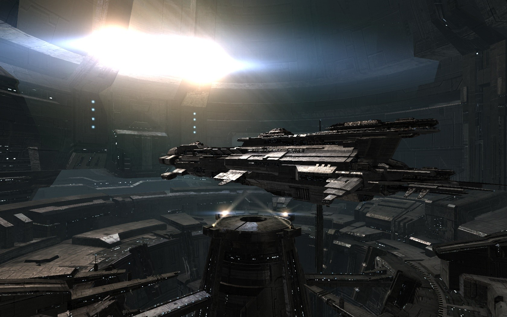 EVE Online - Chimera carrier in EVE Online with the new Trinity engine.