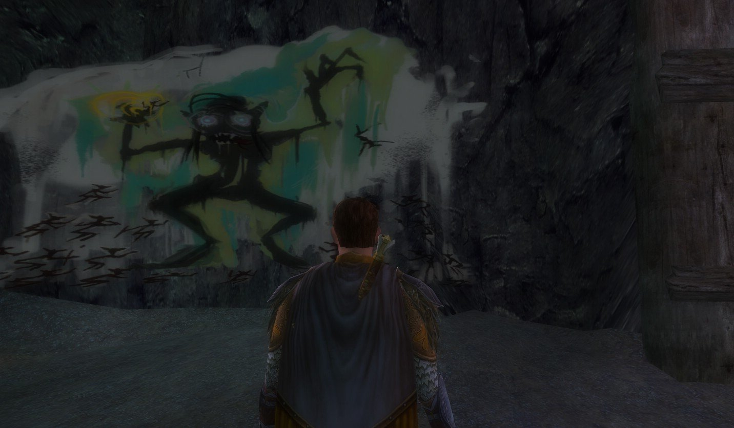 Lord of the Rings Online - Hillarious Goblin Cave Art