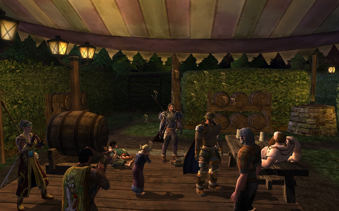 Lord of the Rings Online - Party inside the Spring Festival Hedge Maze