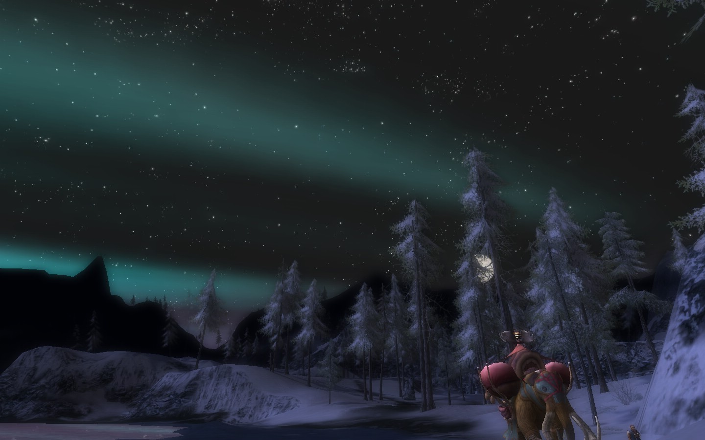 Lord of the Rings Online - Northern Lights in Middle Canada