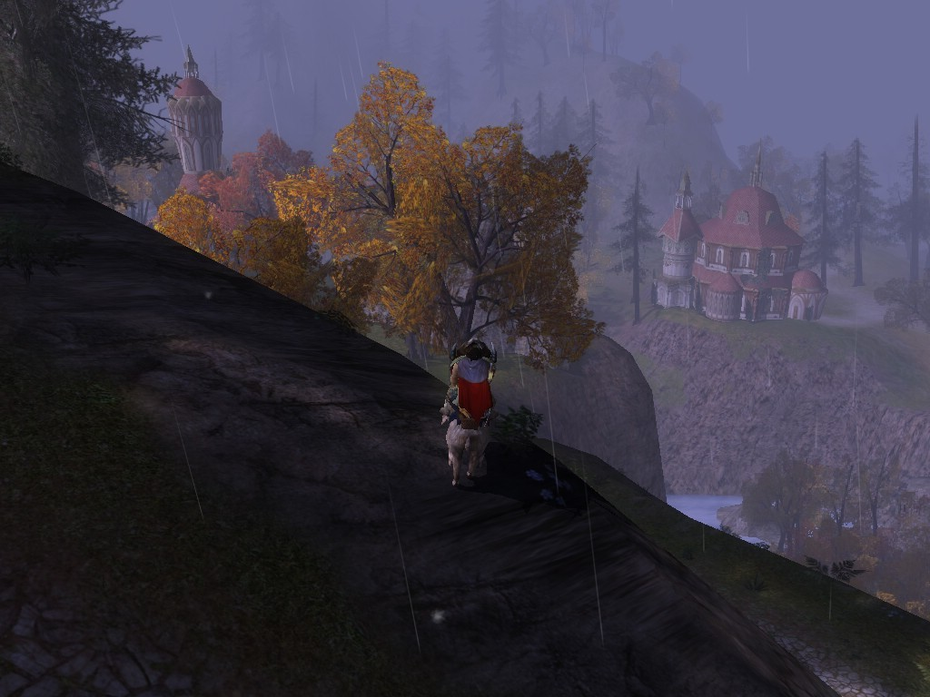 Lord of the Rings Online - view over rivendell