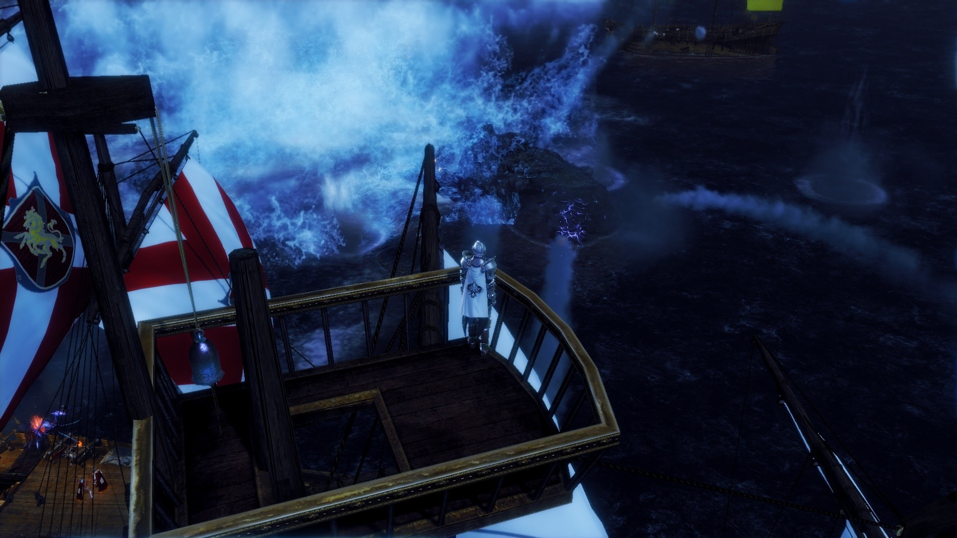 ArcheAge - top of the ship, good view on kraken :)