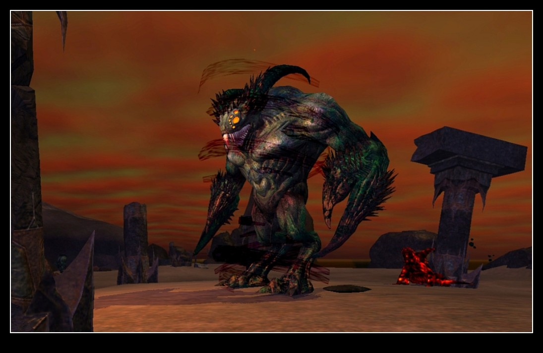 EverQuest II - Void Creatures in Lavastorm (and new video card is working out great)