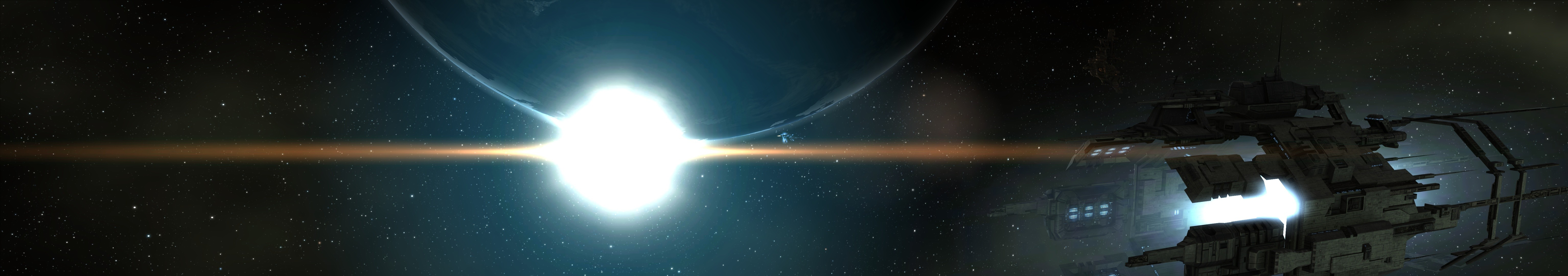 EVE Online - A quick picture on my way back from a mission.