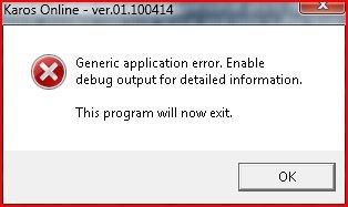 Generic Application Error 3