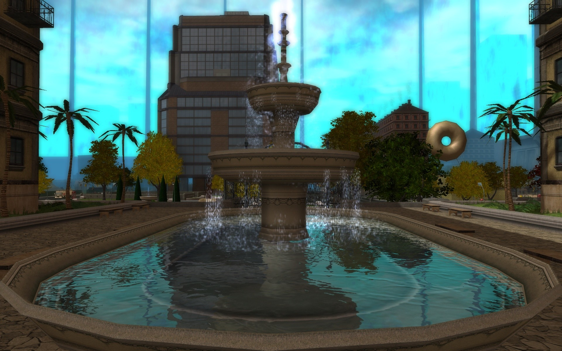 City of Heroes - Faultline Fountain (bAss_ackwards)