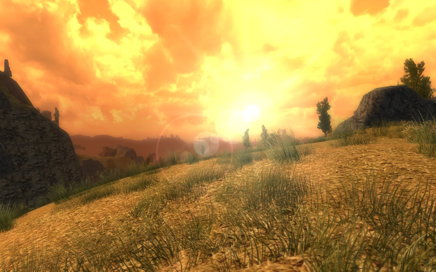 Lord of the Rings Online - They might be the lonely lands but they sure are good to look at!