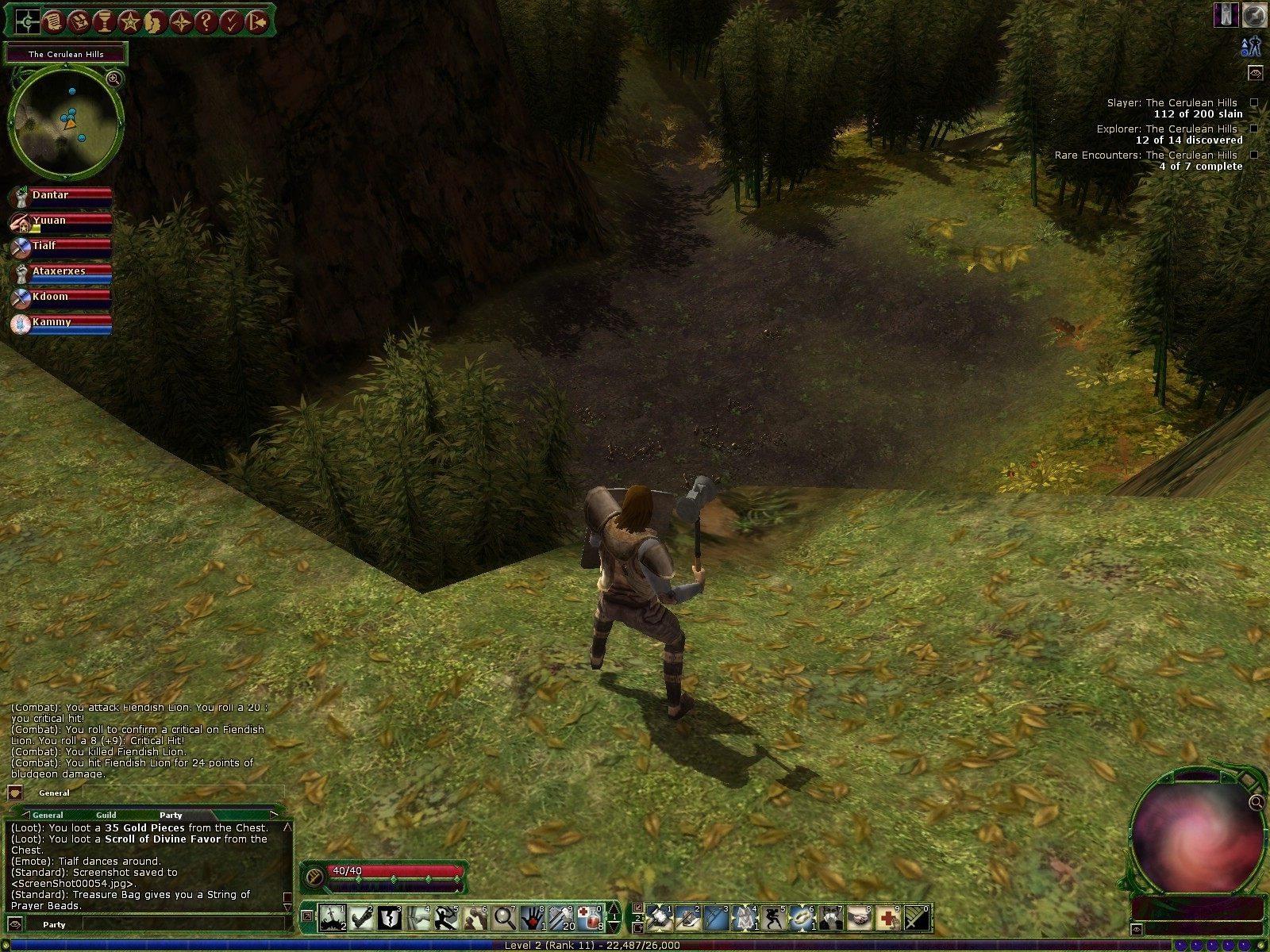 Dungeons & Dragons Online - DDO: Explorable area out of harbor. Budget hammer of justice in hand, hehe.