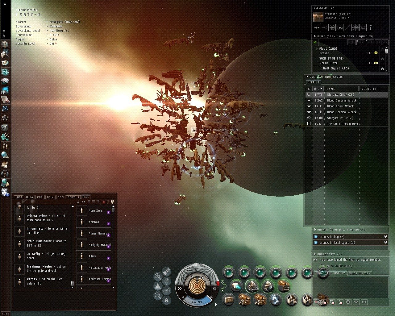 EVE Online - A Real Gate Camp