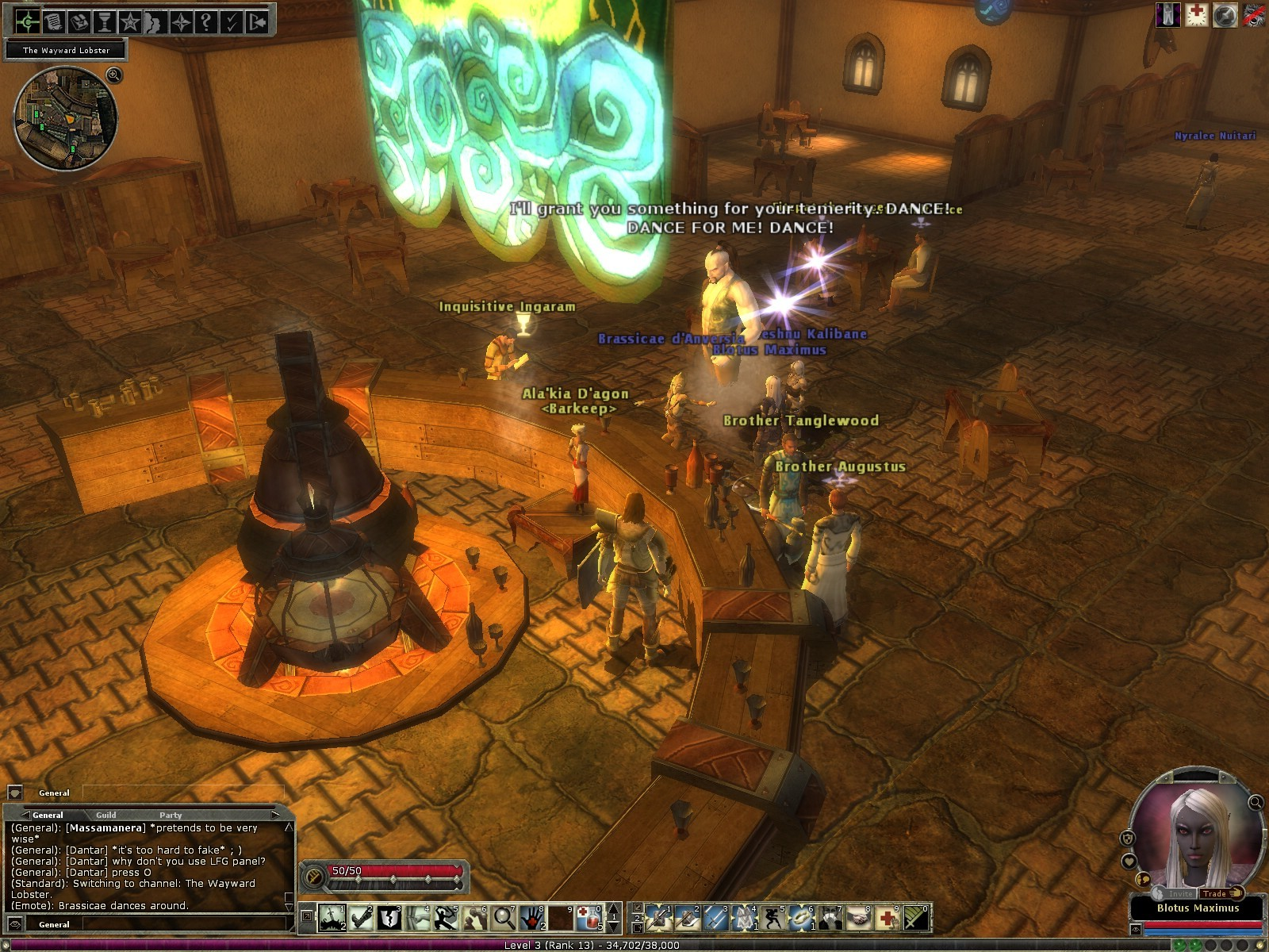 Dungeons & Dragons Online - DDO: Djinni in tavern during event. Quite rude type. Dance for me b..... ;P Heheh