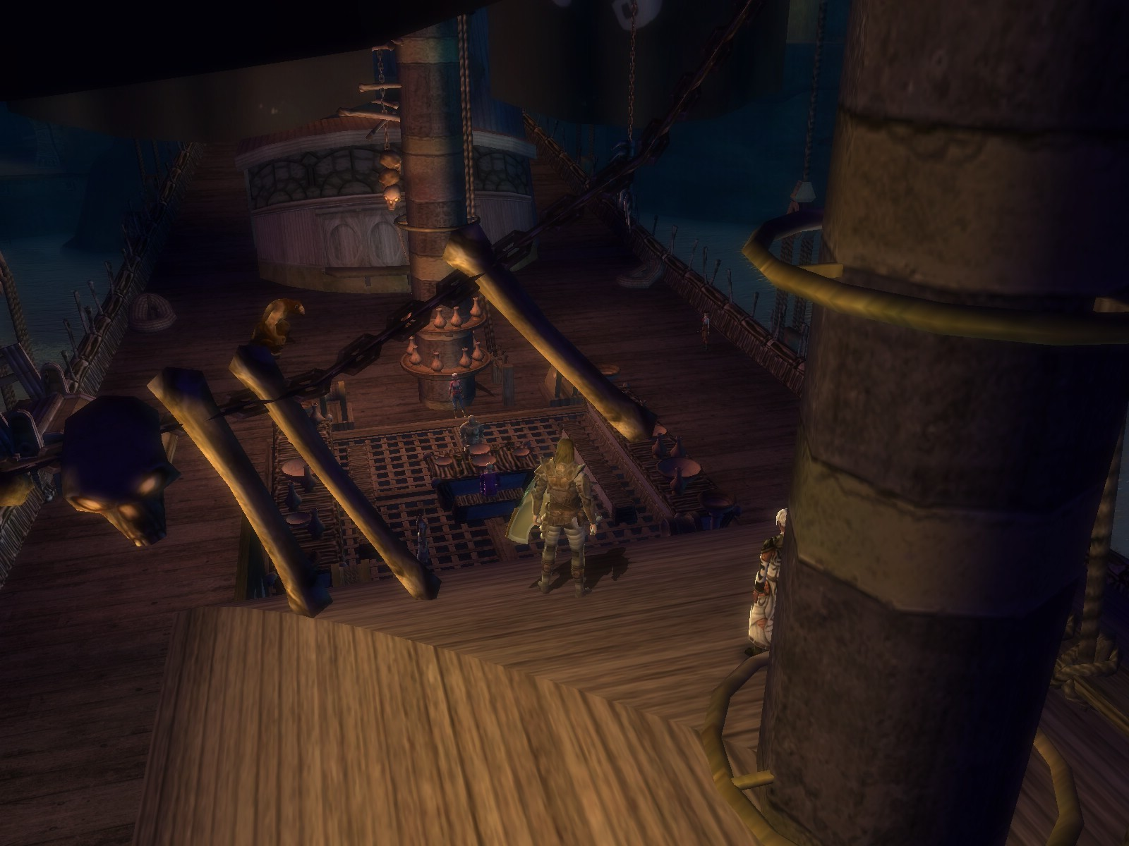 Dungeons & Dragons Online - DDO: Nope, it wasn't decoration. This ship can take me back to Harbor.