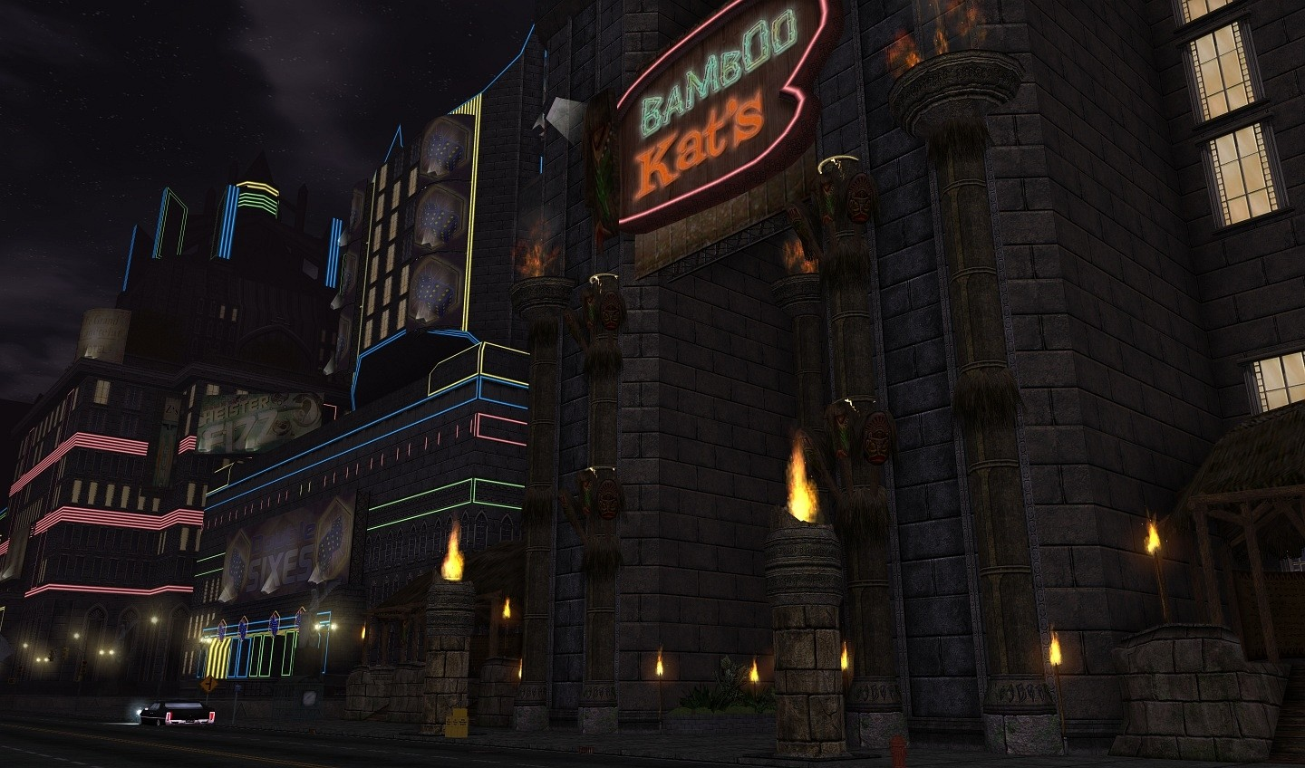 City of Heroes - Bamboo Kat's at Night (Aquabladez)