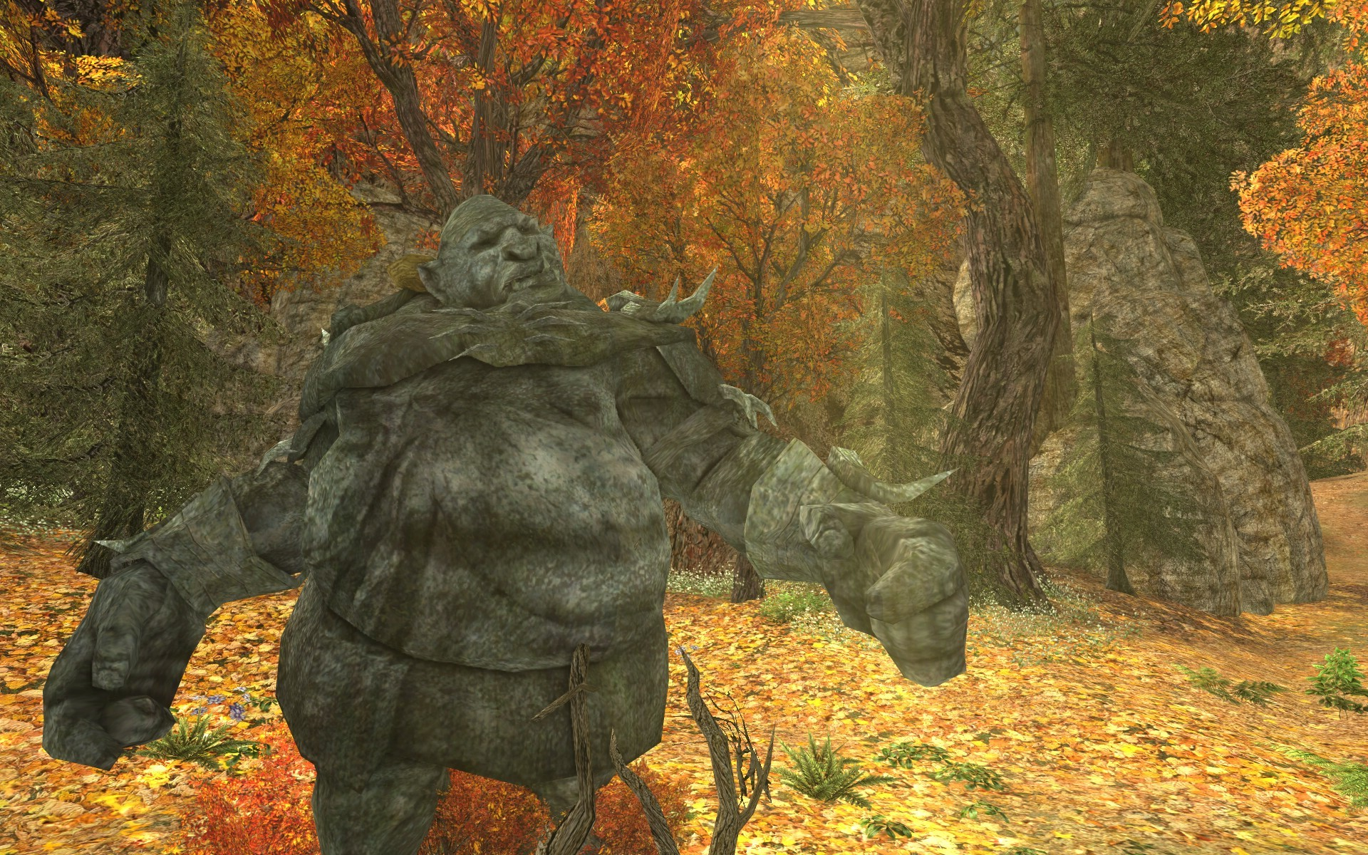 Lord of the Rings Online - Stone Troll - He just had to mess with me now he will spend an eternity here...