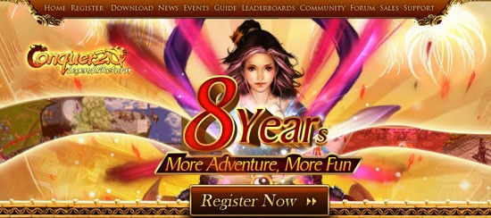 Conquer Online 8th Anniversary