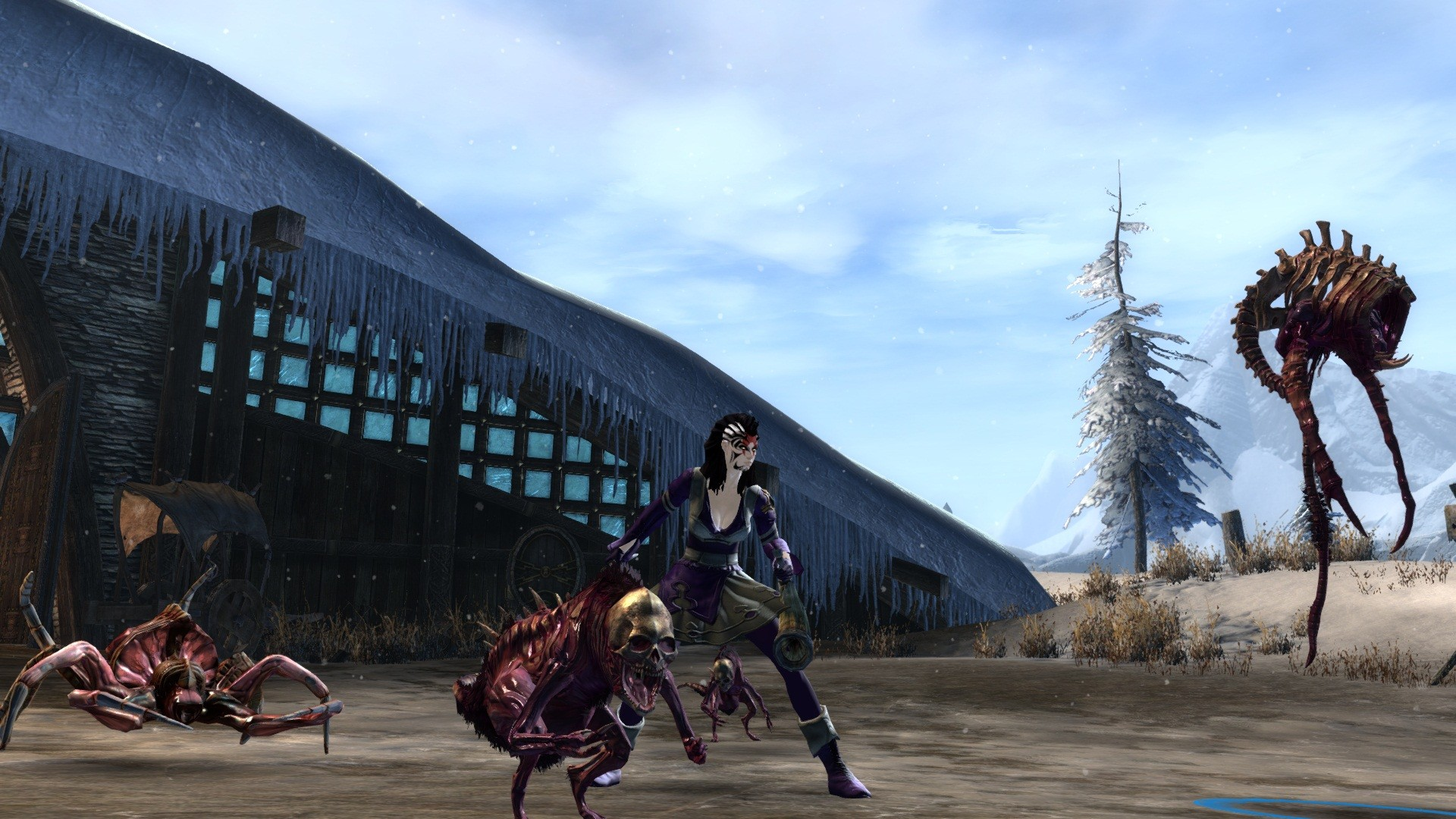 Guild Wars 2 - me and all my disgusting pets..:P