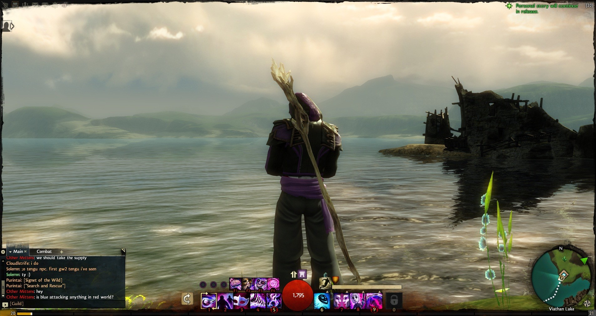 Guild Wars 2 - Such pretty water full of such deadly things.