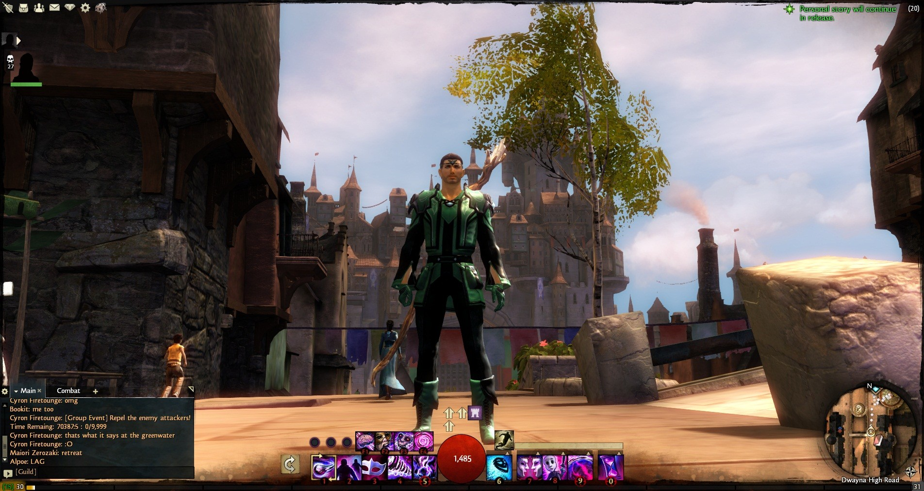 Guild Wars 2 - See that Elite skill on my bar? AoE Quickness. Best skill evar.