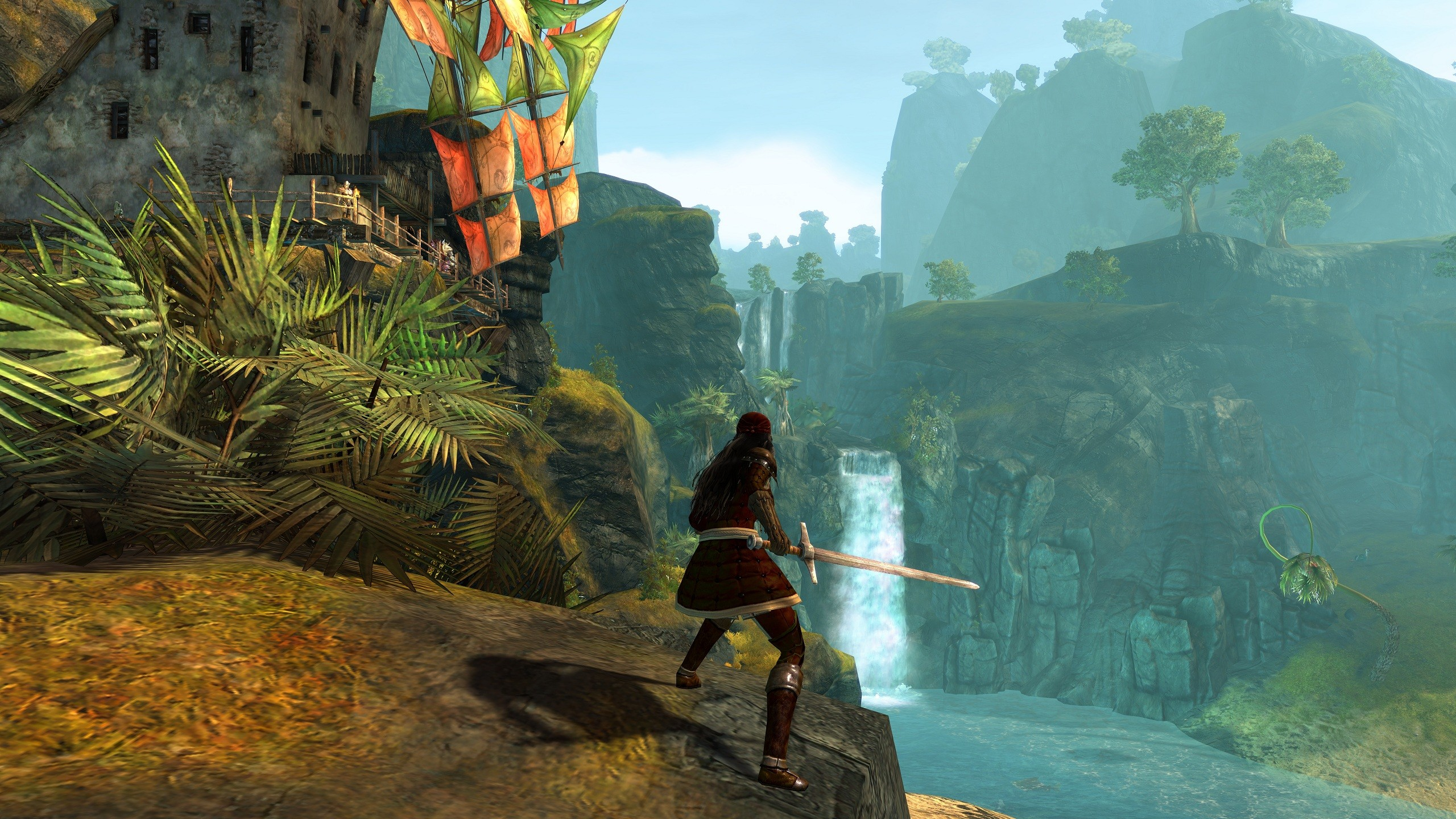 Guild Wars 2 - GW2 Max Settings Lion's Arch waterfall