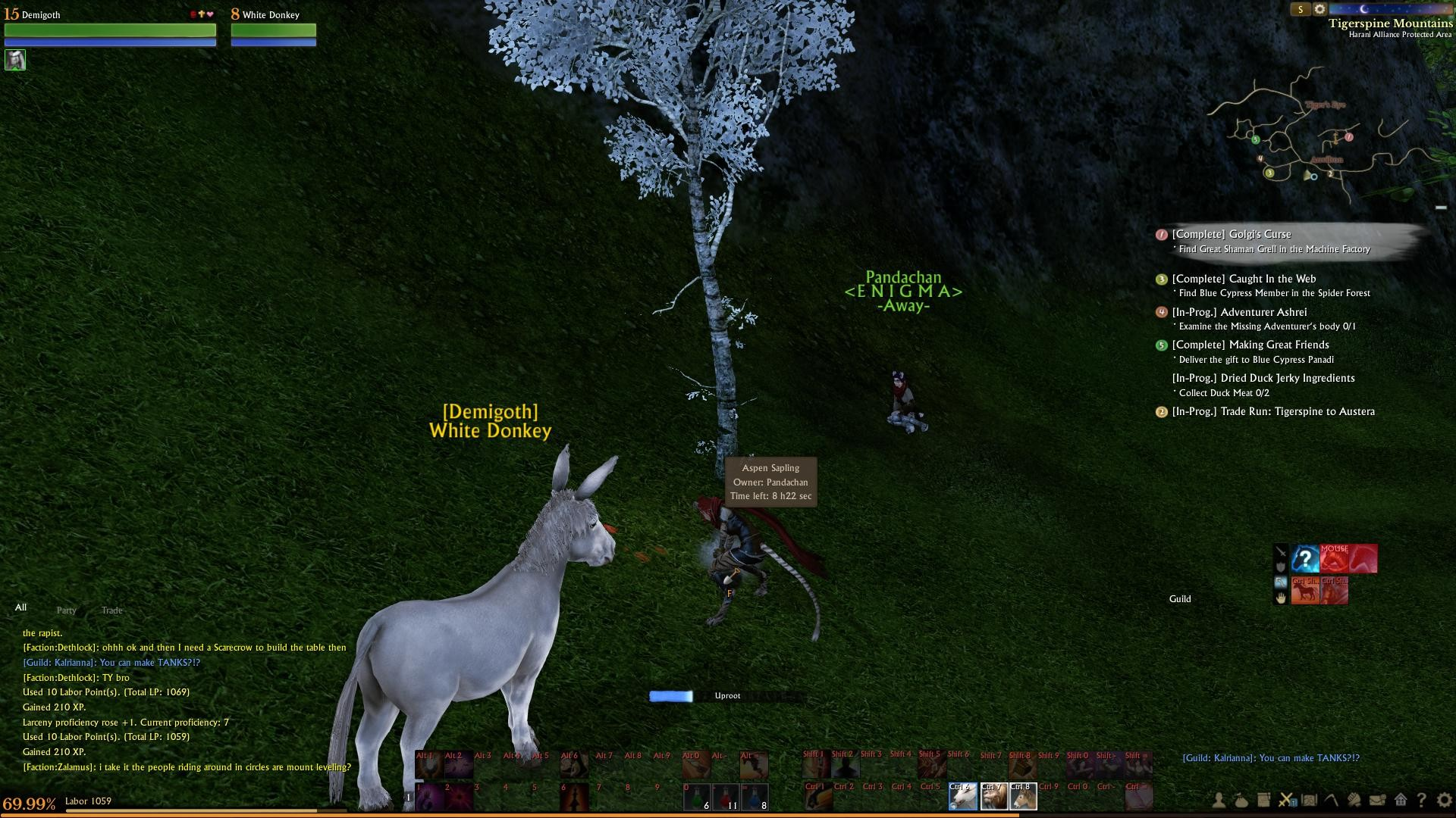 ArcheAge - It helps to stay AFK with your trees in a non-PvP area