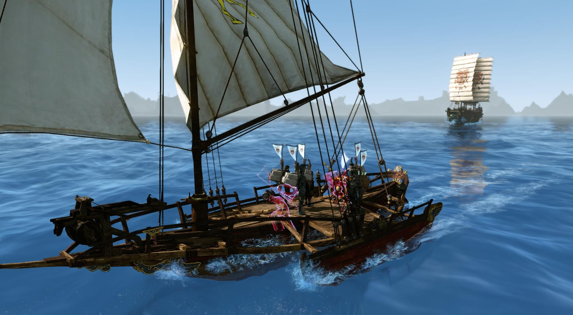 ArcheAge - Trying to run away from pirates.