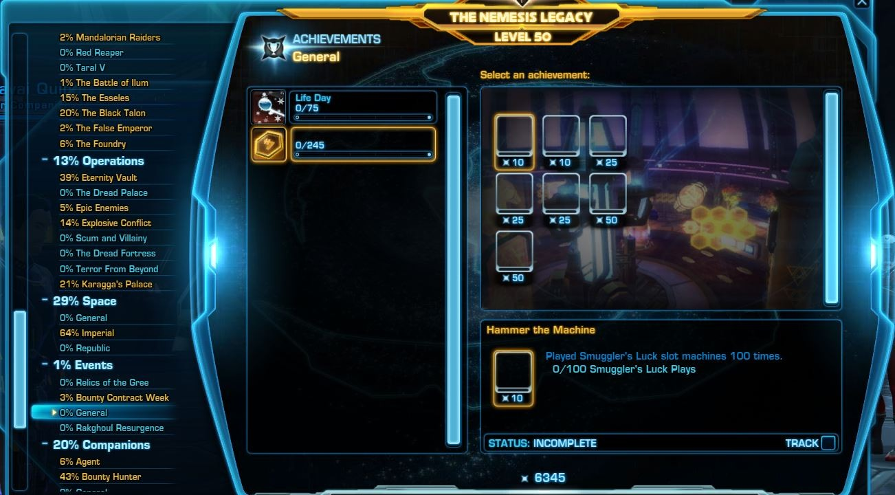 SWTOR new event achievement
