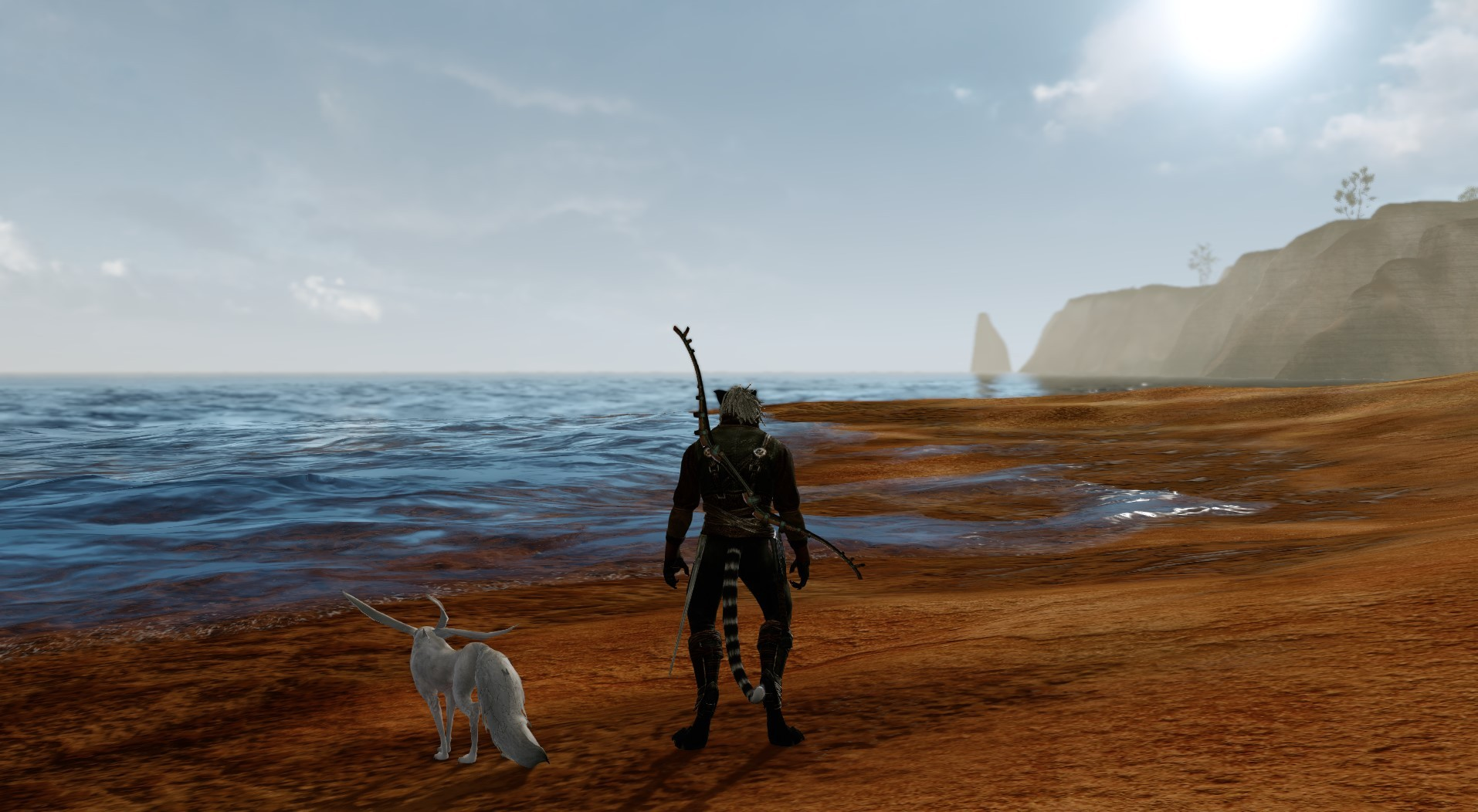 ArcheAge - My pal and I relaxing..