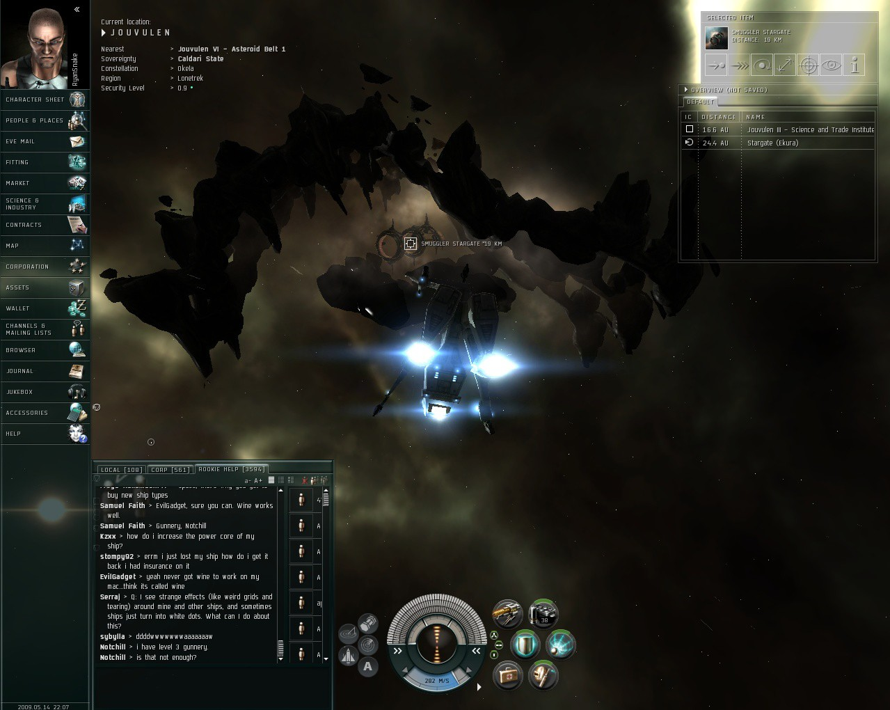 EVE Online - This was creepy.
