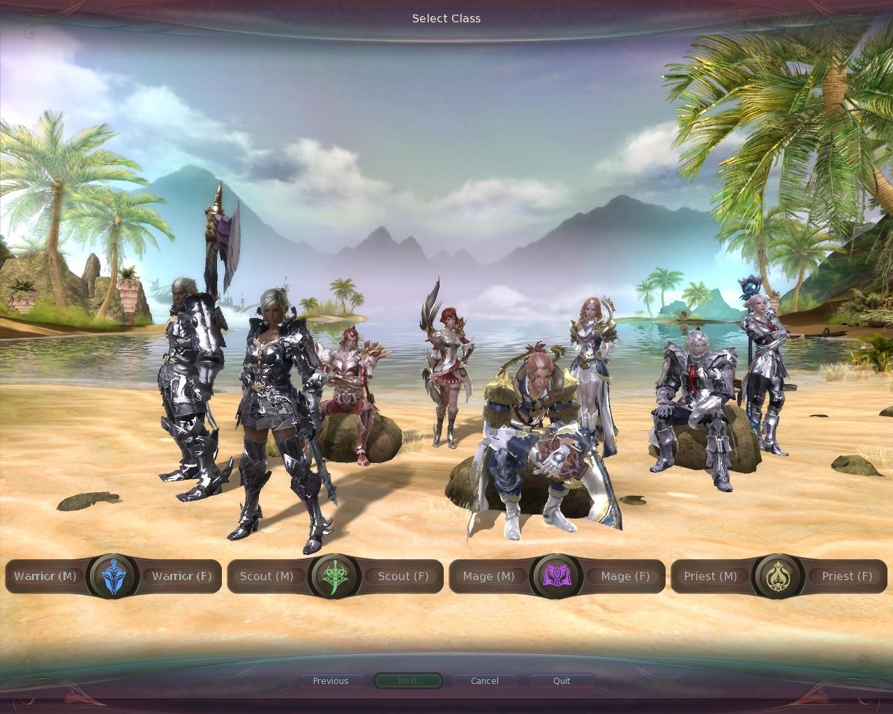 Aion - Class selection for Elyos faction