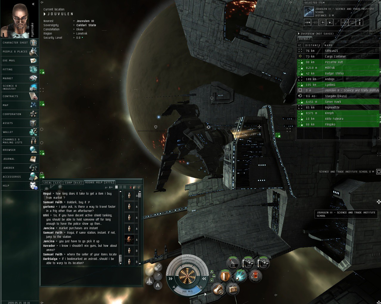 EVE Online - My new ship, the Malikos II. Isn't she a beaut'?