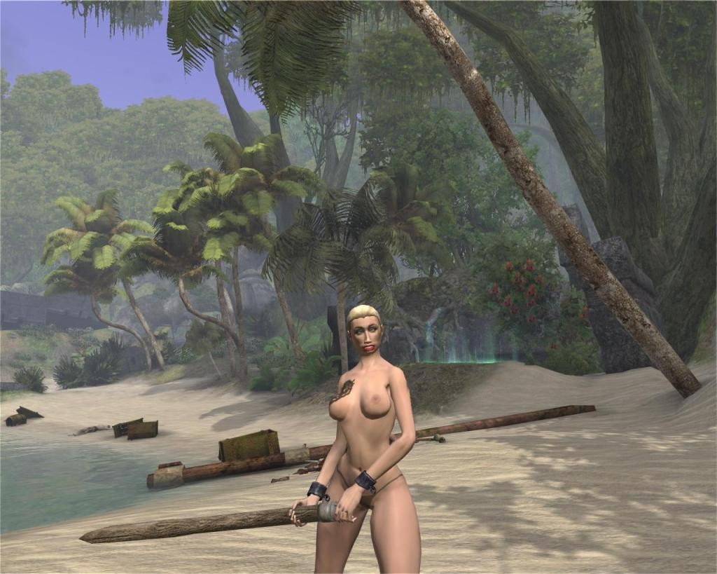 Age of Conan: Unchained - She has to beat off all of her suitors with a big stick.