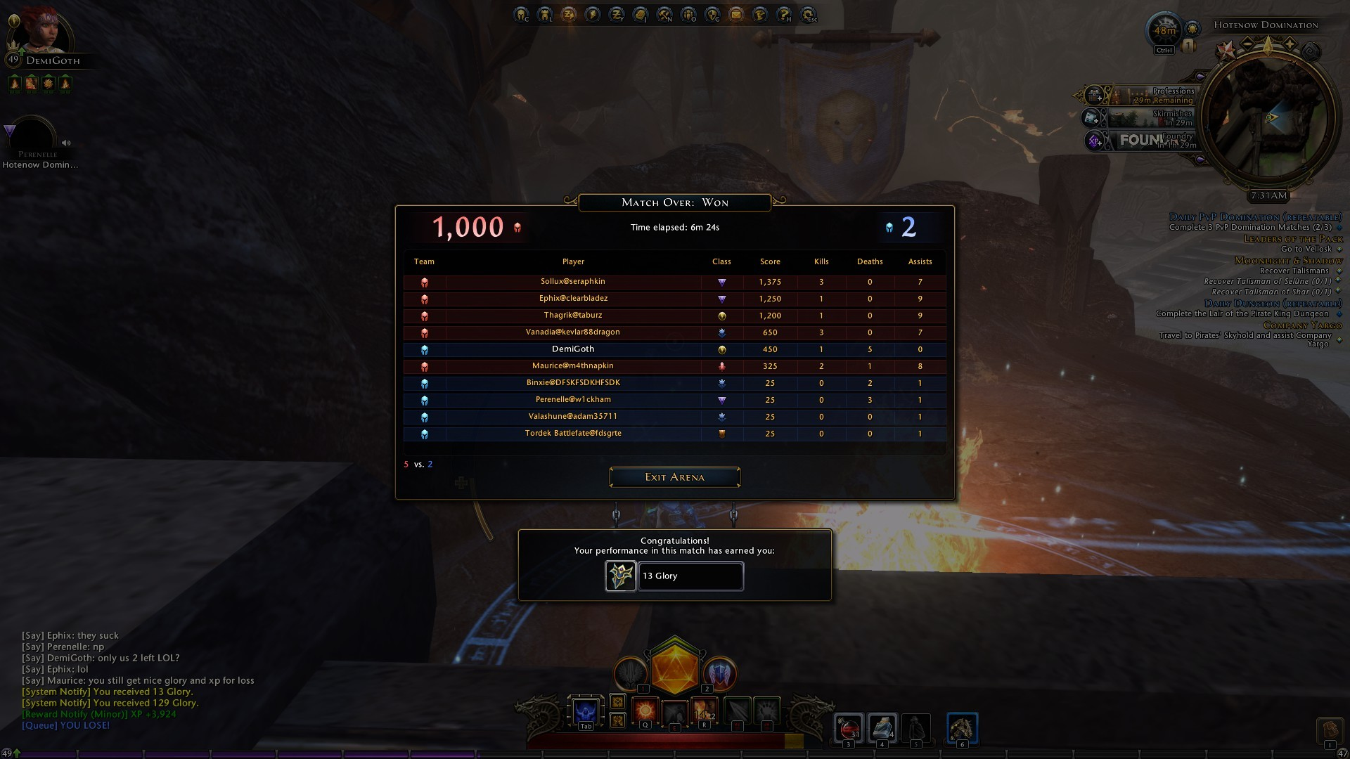 Neverwinter - lovely AFK-PvP party there