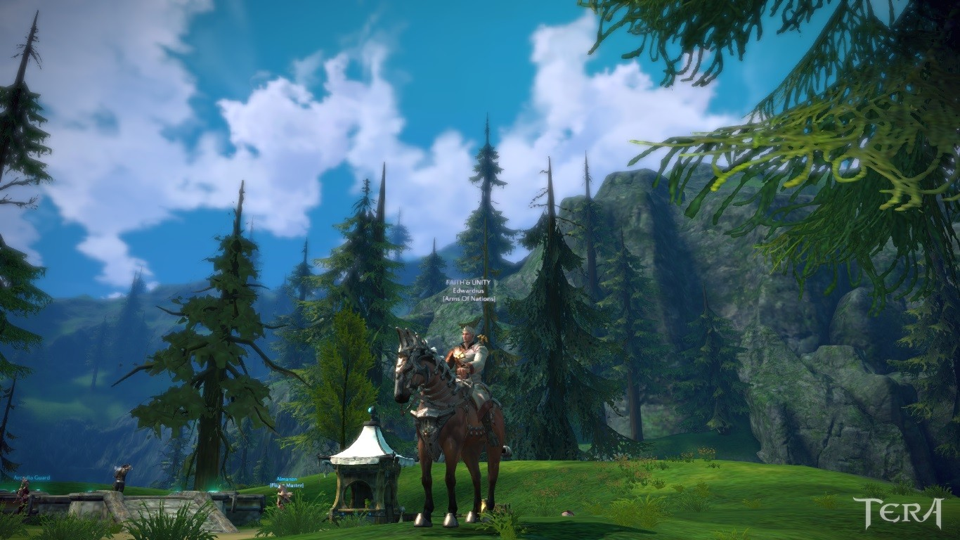 """My Warhorse """"Golden Victory"""". Common in Arborea and the race is of the type """"Bey Gelding""""."""