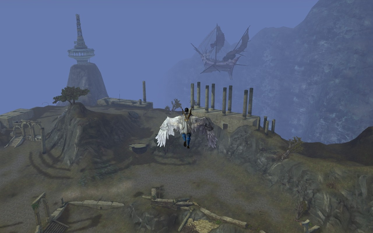 Aion - You can see the ghost ship.