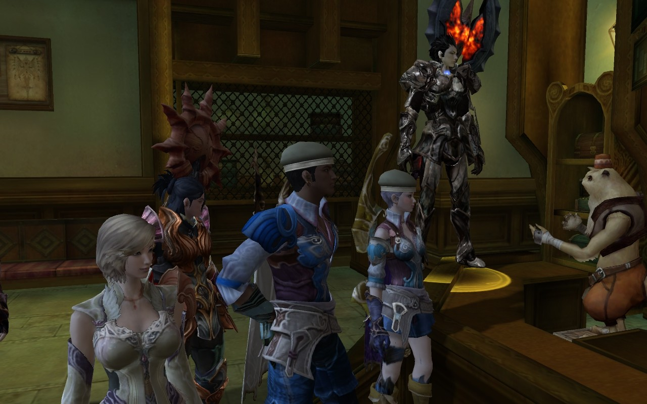 Aion - At the Broker....look at that black armor.