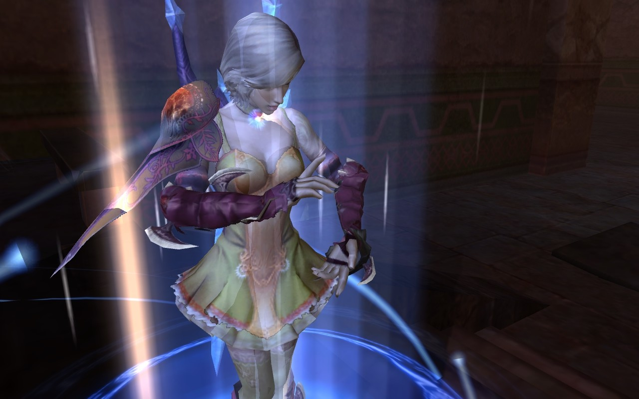 Aion - My guildmate archer teleporting.
