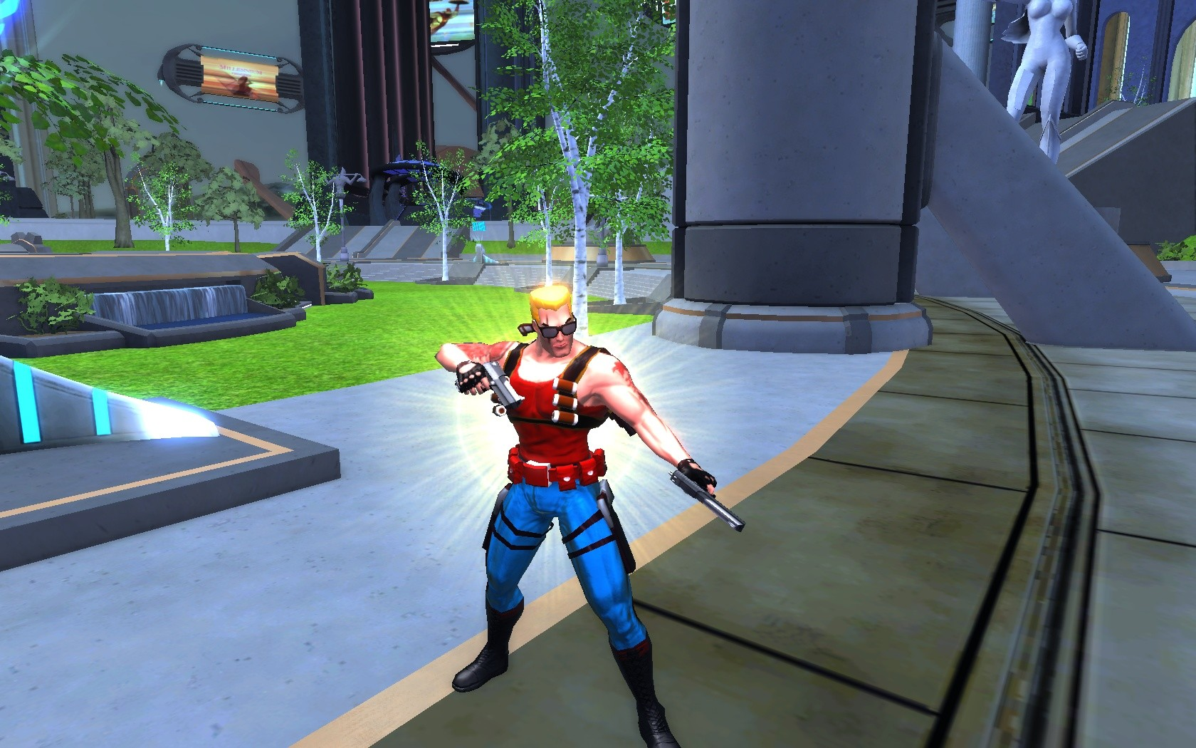 Champions Online - Duke Nukem..strike a pose.