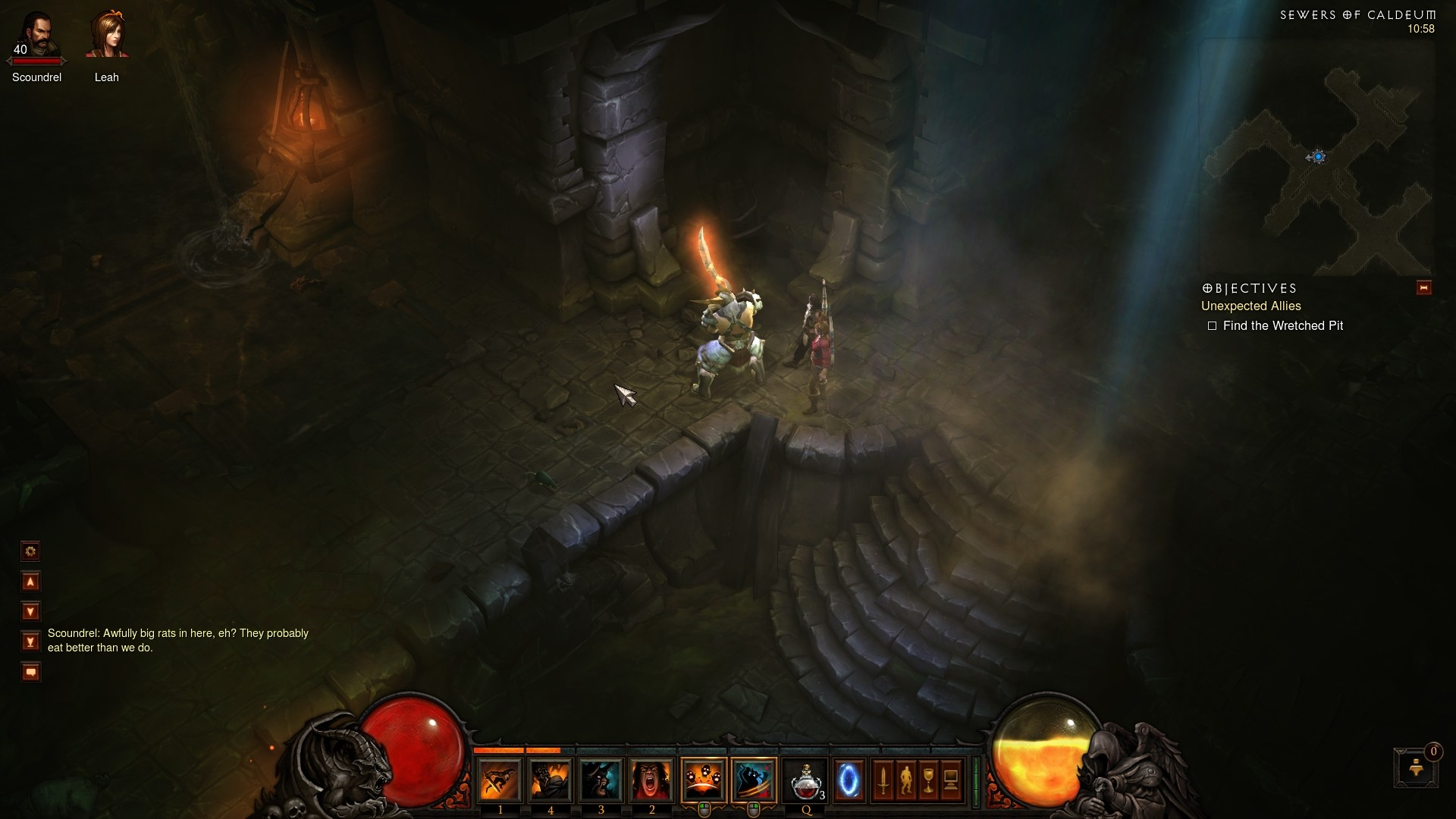 Diablo 3 - If I know Blizzard there will be pizza or a gian rat down here
