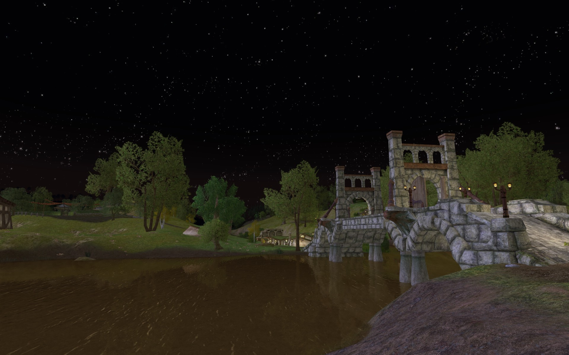 Lord of the Rings Online - Buckland Bridge at Night