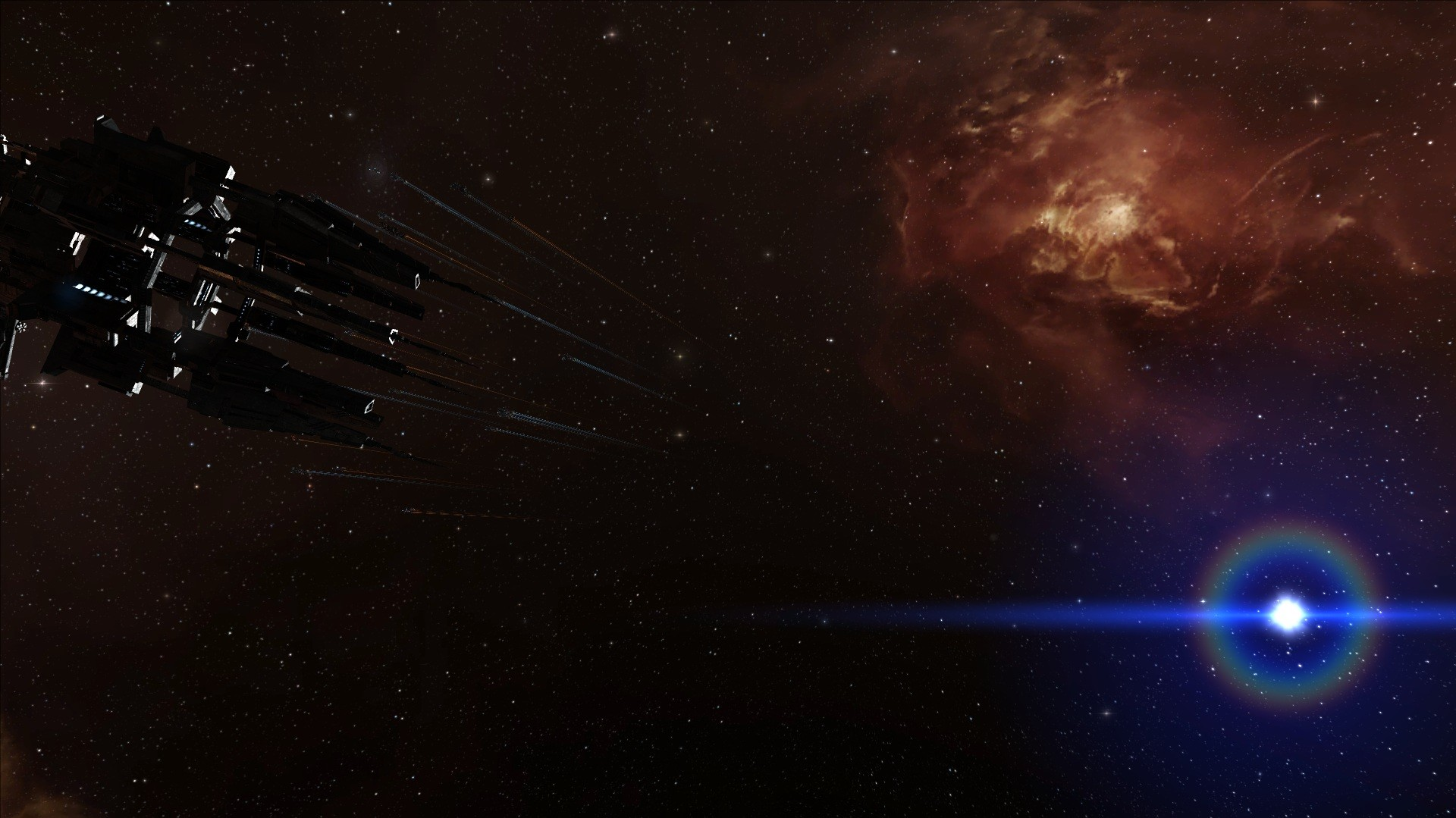 EVE Online - Red and Blue all around