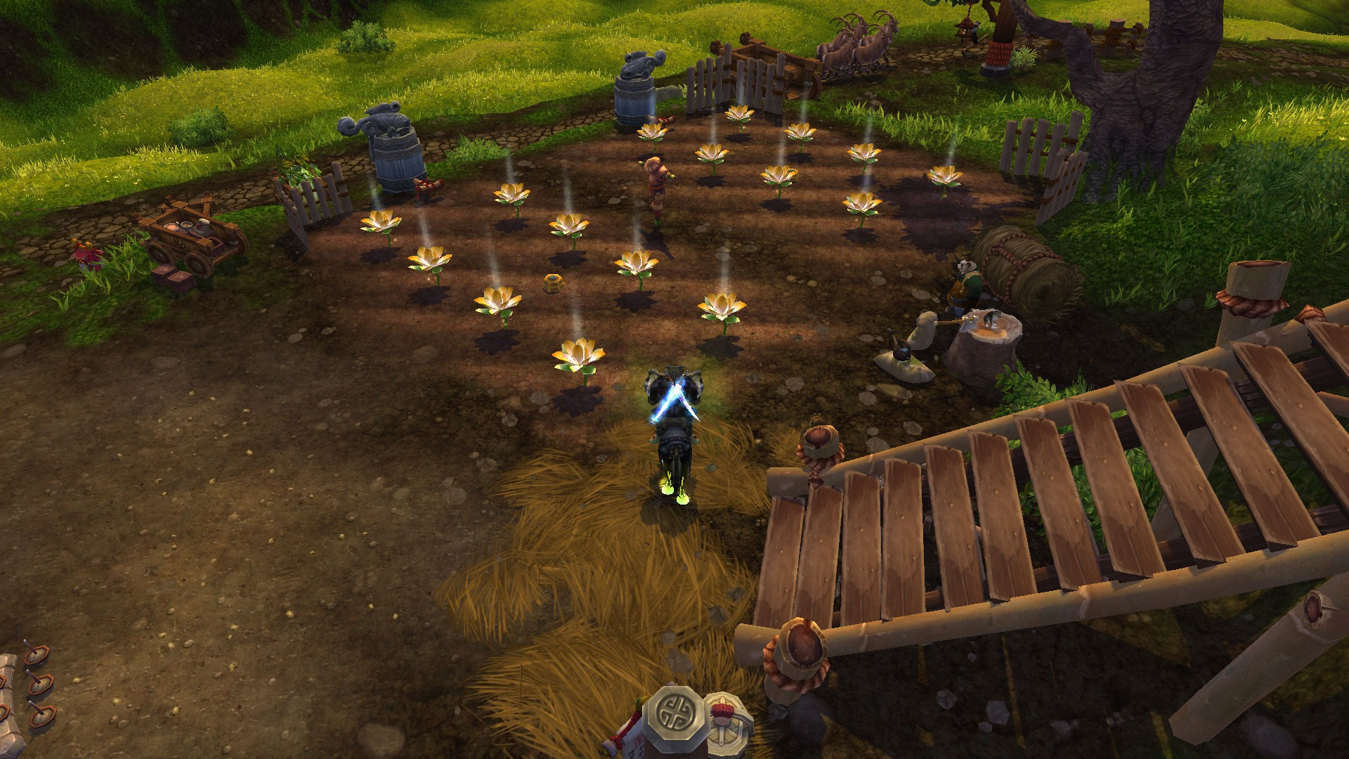 World of Warcraft - Tiller farm Golden lotus's