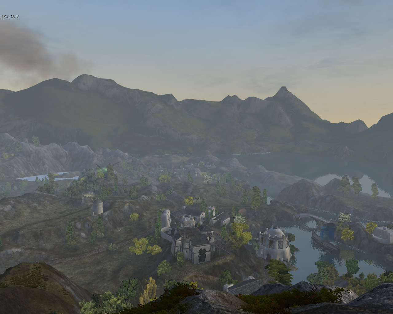 Overlooking the village of Tesso in the Wildlands.  (AoC)