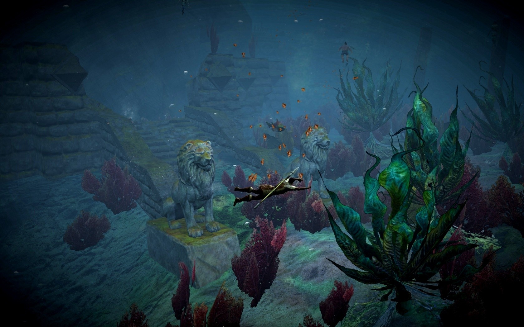 Guild Wars 2 - Underwater wander.