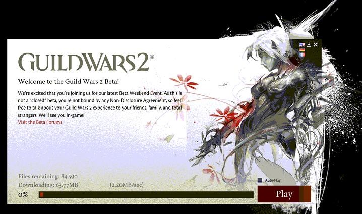 Guild Wars 2 - 2,2 MB/sec......not too bad :)