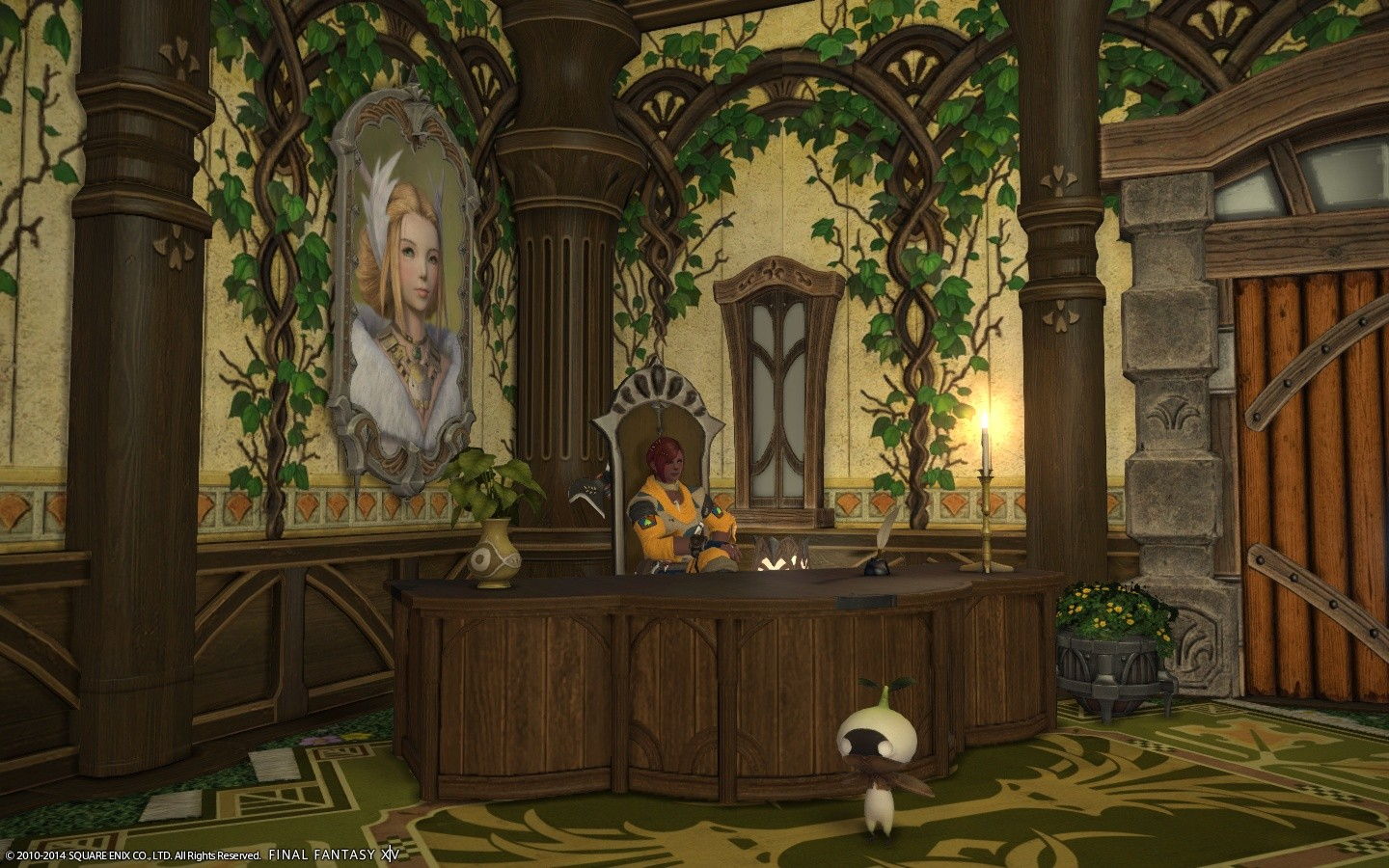Final Fantasy XIV: A Realm Reborn - Sitting at my desk